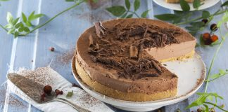 cheesecake de chocolate e manteiga de amendoim