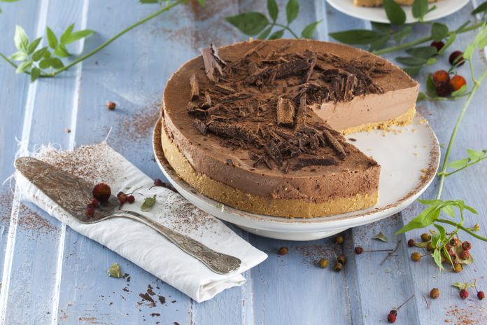 cheesecake dechocolate e manteiga de amendoim