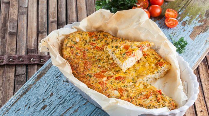 omelete de forno com frango