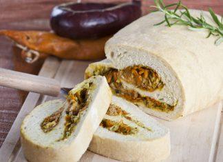 Pão de legumes com alheira