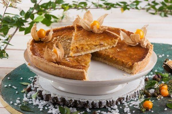 tarte de chila com castanhas