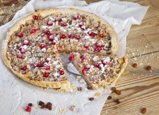 tarte de frutos secos e limao