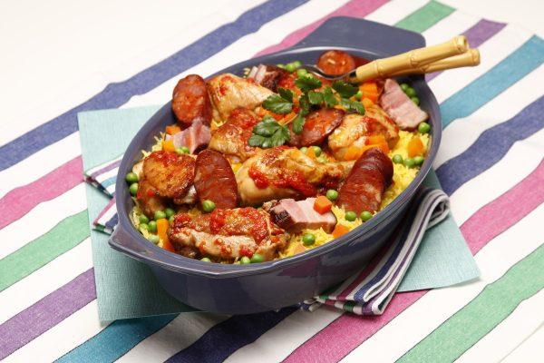 arroz de frango no forno