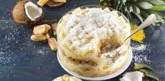 Receita de bolo cremoso de ananás em camadas