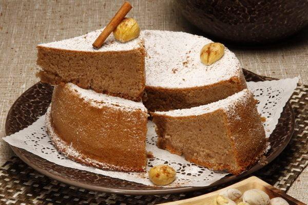 bolo de castanhas e canela