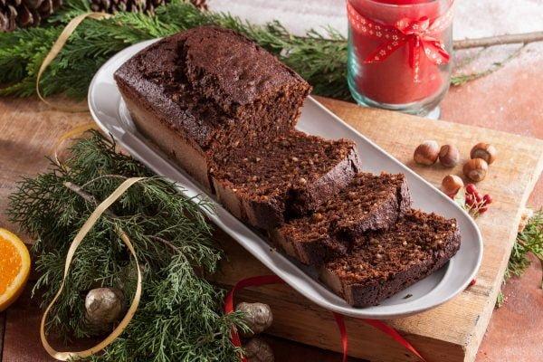 Bolo de chocolate e avelã