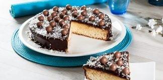 bolo de natas com chocolate e maltisers
