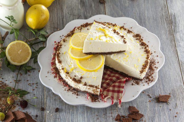 cheesecake de limao e chocolate