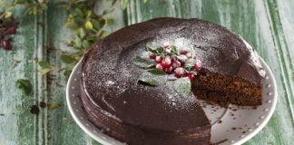 genoise de chocolate recheado