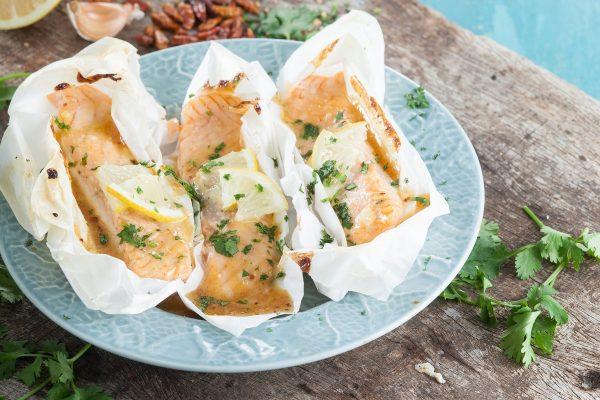 papelotes de salmão