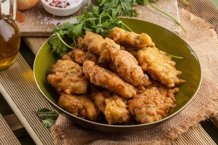 receita de pataniscas de bacalhau