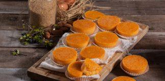 Queijadas de cenoura molhadinhas