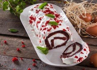 torta red velvet de natal