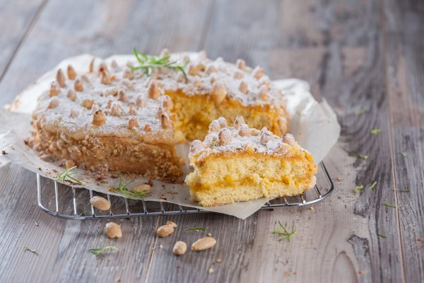 bolo pinha de ouro