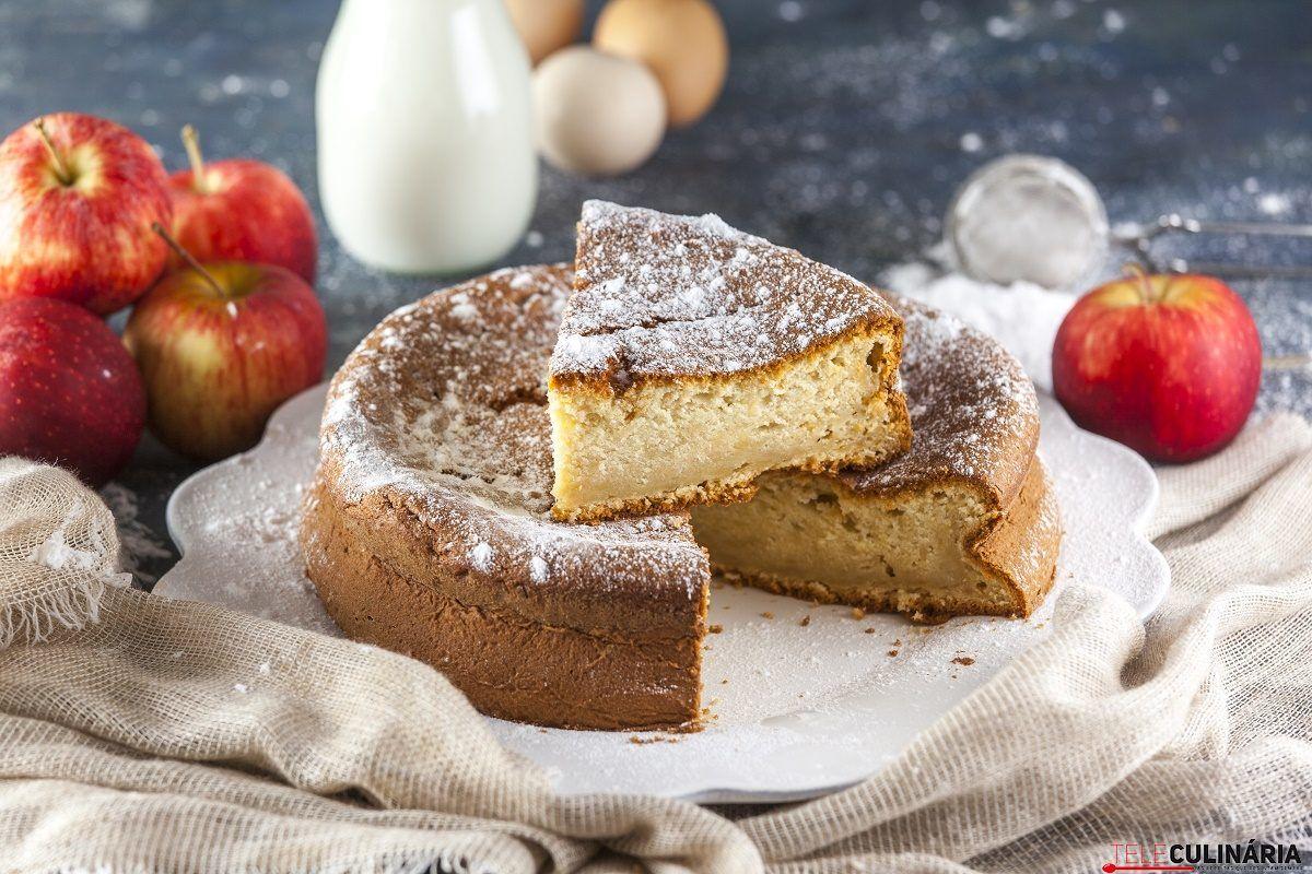 bolo de maca e iogurte