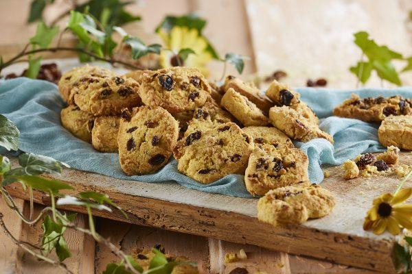 Biscoitos de semola milho e passas CHSB 7