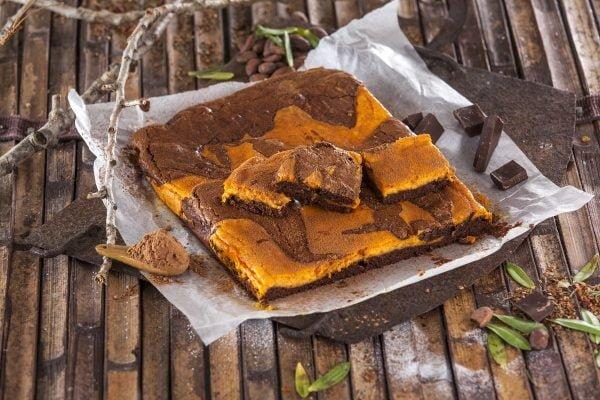 Brownies de chocolate e abobora CHSB