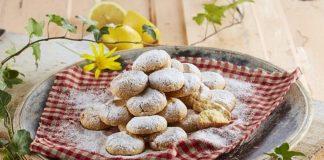 Bolachas de manteiga e limão