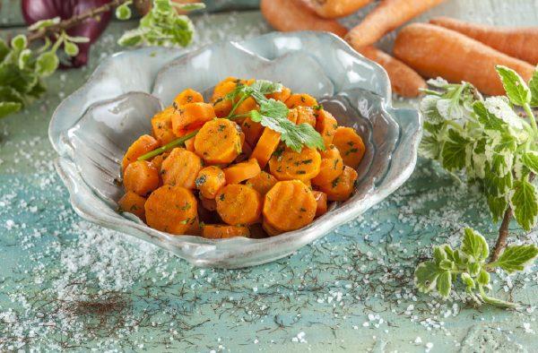 Cenouras caramelizadas