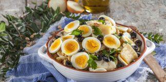 Salada fria de bacalhau com grao