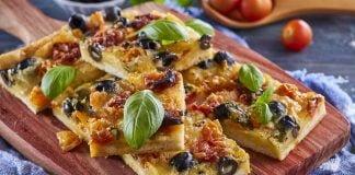 Tarte de queijo e tomate