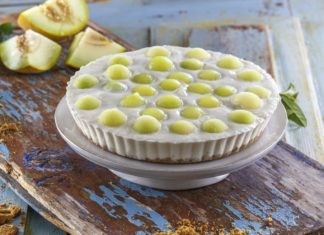 Tarte de meloa com iogurte grego
