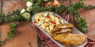 Panados de frango com couscous legumes