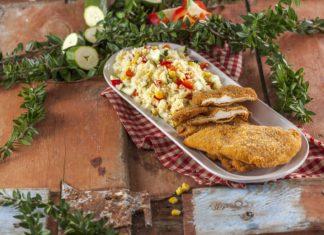Panados de frango com couscous legumes CHML 12
