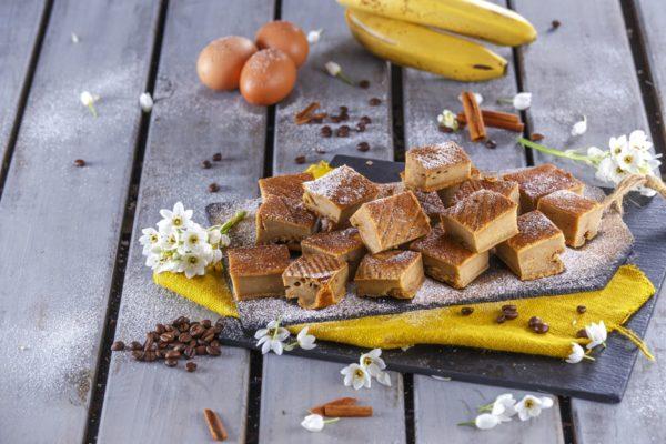 Quadrados de banana e cafe CHSB