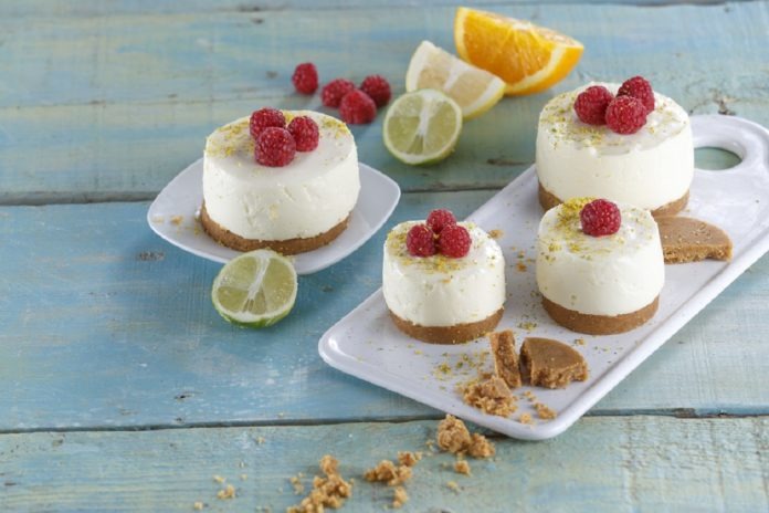 Cheesecake de limao com framboesa