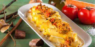 Canelones de vegetais com molho 4 queijos - @TeleCulinária