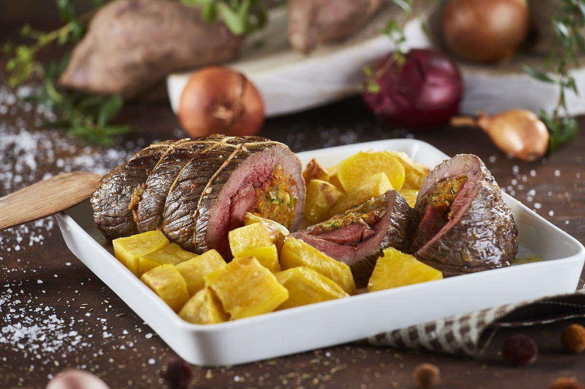 Carne assada recheada com legumes CHMM 12