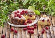 Cheesecake-cozido-de-lima-e-framboesas