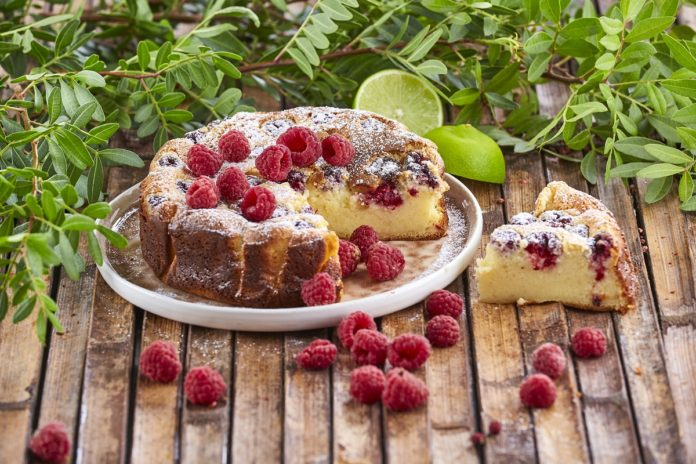 Cheesecake cozido de lima e framboesas CHMC 7