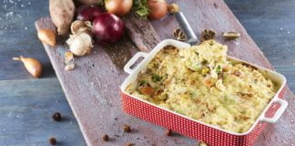 Fusili com atum e legumes gratinado no forno CHMM 4