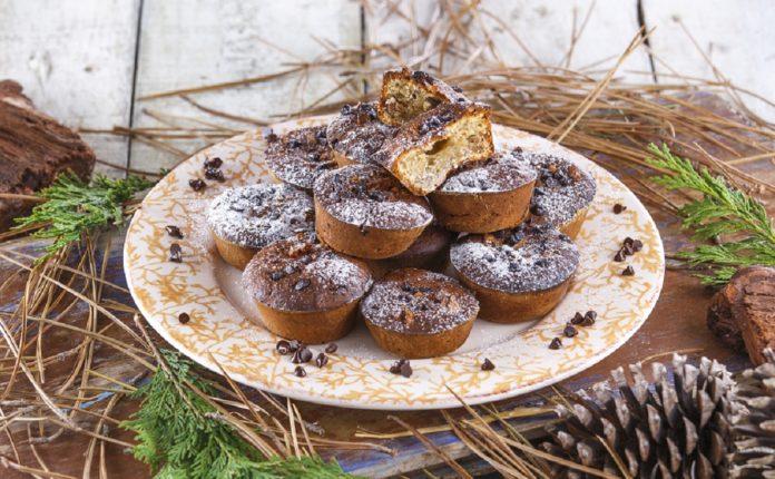 Muffins-de-banana-e-chocolate