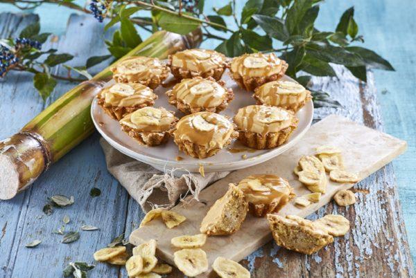 Queques de banana amendoim e leite condensado cozido CHMC 8