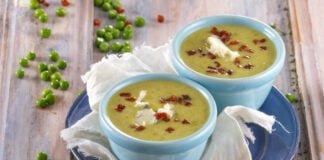 Sopa de ervilhas com gorgonzola e presunto - TeleCulinária