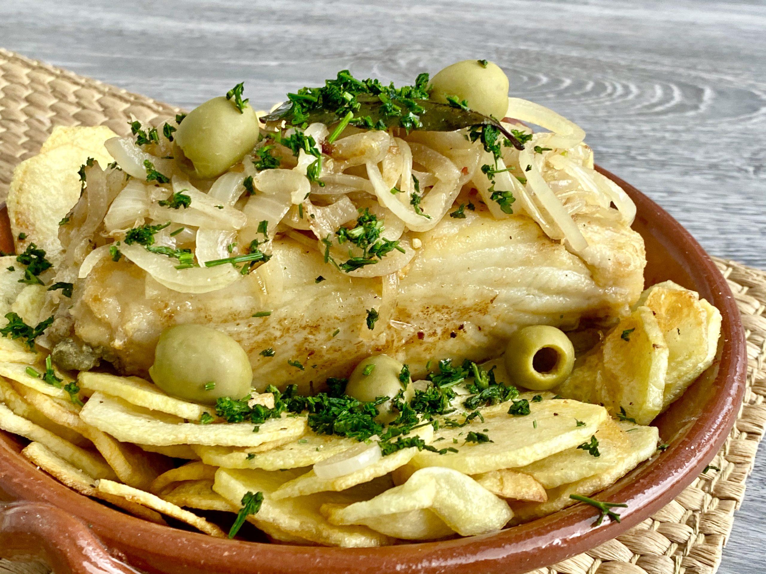 Bacalhau frito com azeitonas scaled