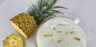 Doce fresco de ananás