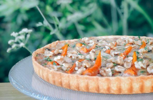 tarte de cenouras com nozes