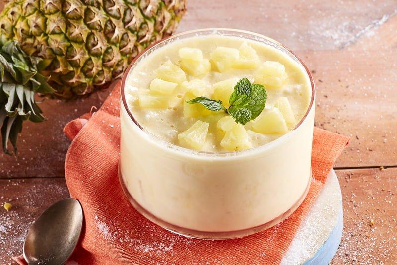 Mousse de ananás - @TeleCulinária