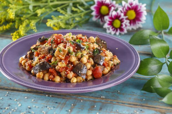 Salada de grao com beringela CHPF 9 Large Large