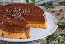 Semifrio de chocolate e caramelo - TeleCulinária