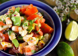 Salada de camarão e lima - @TeleCulinária