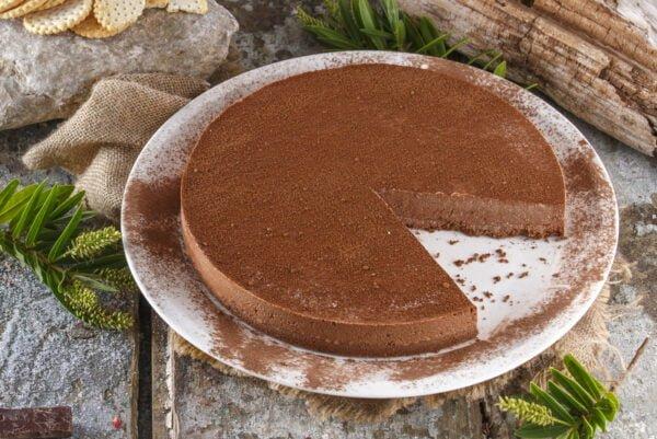 Cheesecake de chocolate light -@Teleculinária