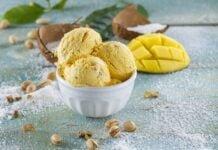 Gelado de coco manga e pistachio-@TeleCulinária