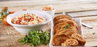Rissóis de bacalhau com arroz de tomate -@TeleCulinária