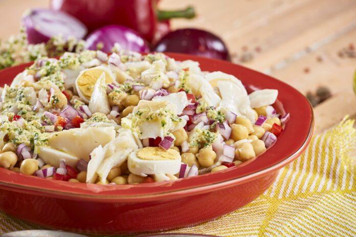 Salada de bacalhau com grão CHEC @TeleCulinaria