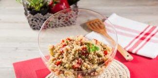 Salada de quinoa e legumes- @Teleculinaria